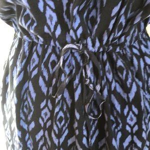GAP Dresses - Blue Ikat Tank Dress with Pockets